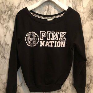PINK NATION Victoria's Secret black sweater